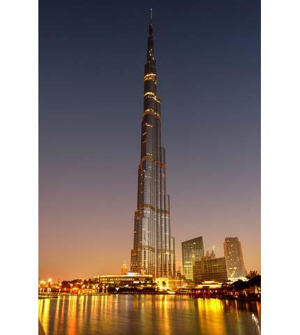 Verdens høyeste bygg - Burj Khalifa